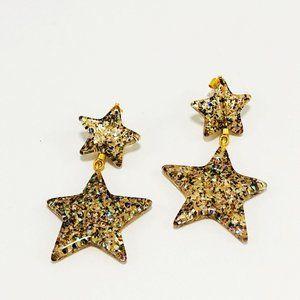 Madewell Dangling Star Earrings